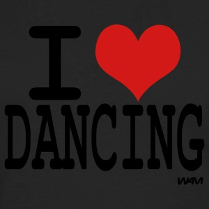 Black i love dancing by wam T-Shirts - Men's Premium Long Sleeve T-Shirt