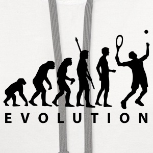 White evolution_tennis_a_1c T-Shirts - Contrast Hoodie