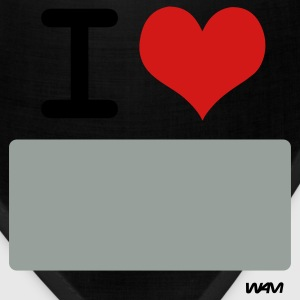 Black I LOVE ...WRITE IT by wam ( writable flex) T-Shirts - Bandana