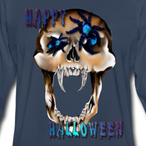 Skull N Spider Halloween - Men's Premium Long Sleeve T-Shirt