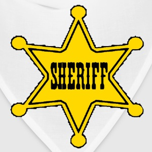 White sheriff badge Toddler Shirts - Bandana