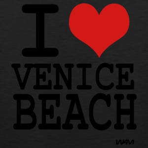 Black i love venice beach by wam T-Shirts - Men's Premium Tank