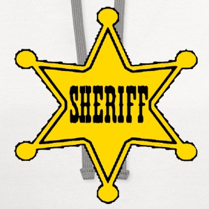 White sheriff badge Toddler Shirts - Contrast Hoodie
