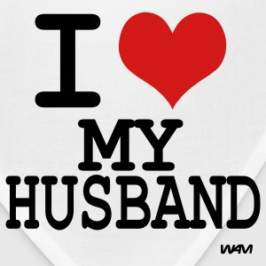 White i love my husband by wam T-Shirts - Bandana