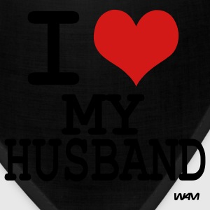 Black i love my husband by wam T-Shirts - Bandana