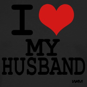 Black i love my husband by wam T-Shirts - Men's Premium Long Sleeve T-Shirt