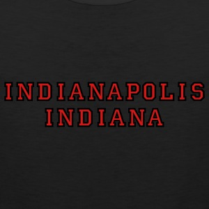 Indianapolis Indiana college-stile t-shirt red/gold - Men's Premium Tank