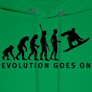 Sage evolution_snowboard_b T-Shirts - Men's Hoodie