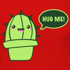 Red cactus (hug me) T-Shirts - Women's Premium Long Sleeve T-Shirt