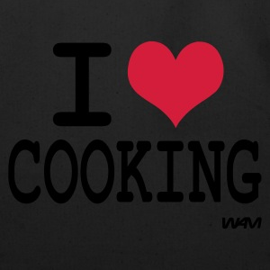 Black i love cooking by wam T-Shirts - Eco-Friendly Cotton Tote