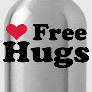 Yellow Free Hugs Kids' Shirts - Water Bottle