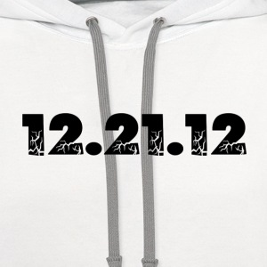White 12.21.12 2012 The End of the World? T-Shirts - Contrast Hoodie