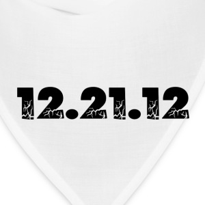 White 12.21.12 2012 The End of the World? T-Shirts - Bandana