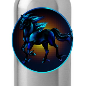 Framed Black Horse - Water Bottle