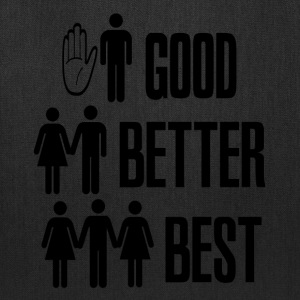 White Good Better Best Sex T-Shirts - Tote Bag