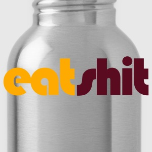 Heather grey eat shit insult shirt T-Shirts - Water Bottle