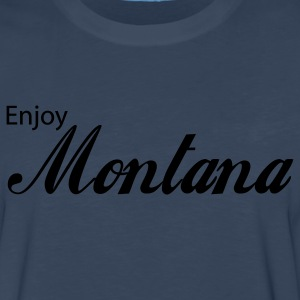 Navy montana T-Shirts - Men's Premium Long Sleeve T-Shirt