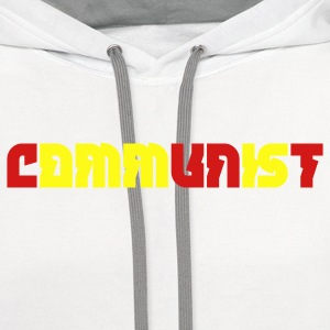 White communist T-Shirts - Contrast Hoodie