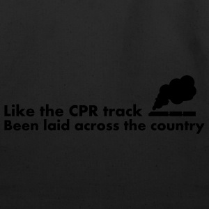 White Like the CPR track been laid across the country T-Shirts - Eco-Friendly Cotton Tote
