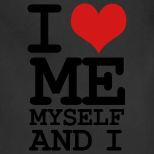 Black i love me myself and i T-Shirts - Adjustable Apron