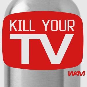 Heather grey kill your tv by wam T-Shirts - Water Bottle