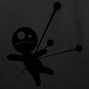 Black Voodoo Doll T-Shirts - Eco-Friendly Cotton Tote