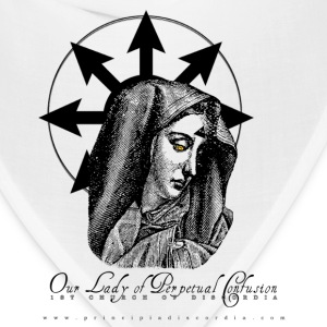 Our Lady of Perpetual Confusion. White. - Bandana