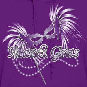 Purple Purple Mardi Gras Mask T-Shirts - Women's Hoodie