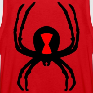 black widow on back - Men's Premium Tank