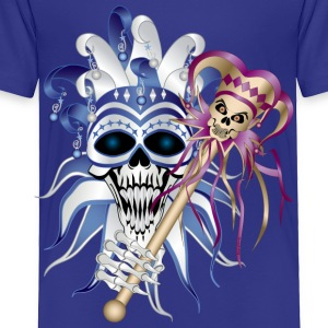 Royal blue Jester Skull Kids' Shirts - Toddler Premium T-Shirt