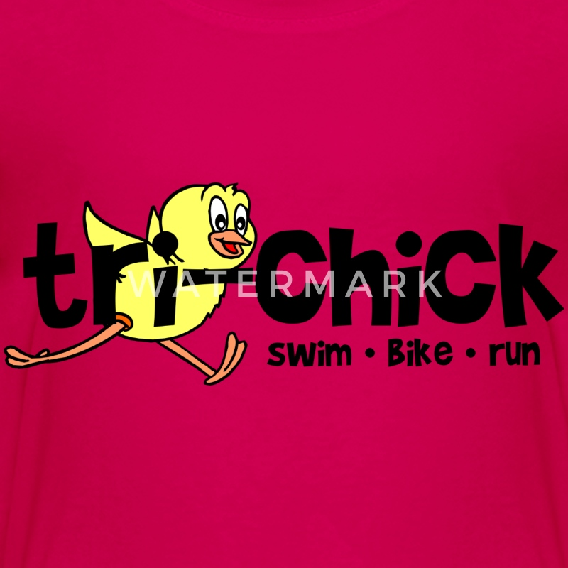 Hot pink Tri-Chick Kids' Shirts - Kids' Premium T-Shirt
