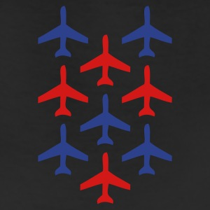 Burgundy top gun planes in formation T-Shirts - Leggings