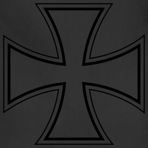 Black iron cross T-Shirts - Adjustable Apron
