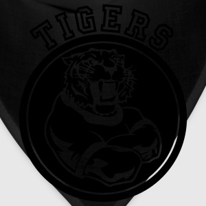Forest green Tigers Mascot Graphic T-Shirts - Bandana