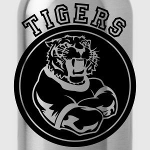 Forest green Tigers Mascot Graphic T-Shirts - Water Bottle