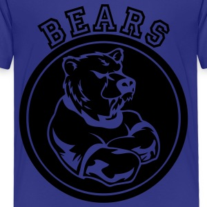 Royal blue Bear Custom Sports Mascot Kids' Shirts - Toddler Premium T-Shirt