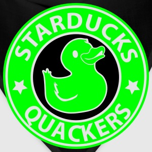 Brown starducks quackers coffee parody logo T-Shirts - Bandana