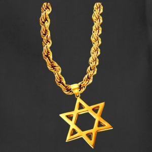 Chocolate Gold Star of David T-Shirts - Adjustable Apron
