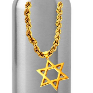 Chocolate Gold Star of David T-Shirts - Water Bottle