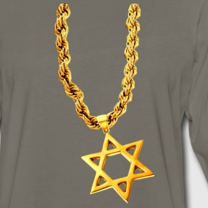 Chocolate Gold Star of David T-Shirts - Men's Premium Long Sleeve T-Shirt