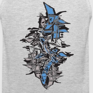 Ash  cool grafitti stack shapes T-Shirts - Men's Premium Tank