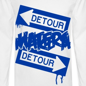 White DETOUR HATERS T-Shirts - Men's Long Sleeve T-Shirt