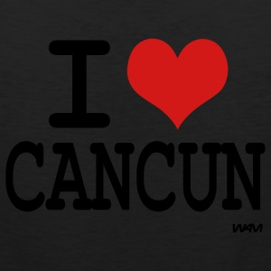 Black i love cancun by wam T-Shirts - Men's Premium Tank