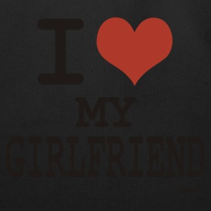 Black i love my girl friend by wam T-Shirts - Eco-Friendly Cotton Tote