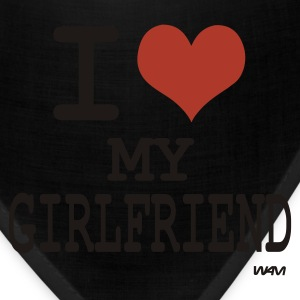 Black i love my girl friend by wam T-Shirts - Bandana