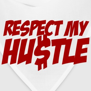 White RESPECT My Hustle T-Shirts - Bandana