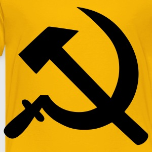 Yellow Hammer and sickle Kids' Shirts - Toddler Premium T-Shirt