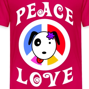 Peace Hello Puppy! - Toddler Premium T-Shirt