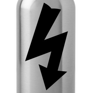 Black Electricity Symbol T-Shirts - Water Bottle