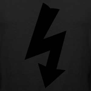 Black Electricity Symbol T-Shirts - Men's Premium Tank